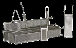 Titanium baskets for anodes
